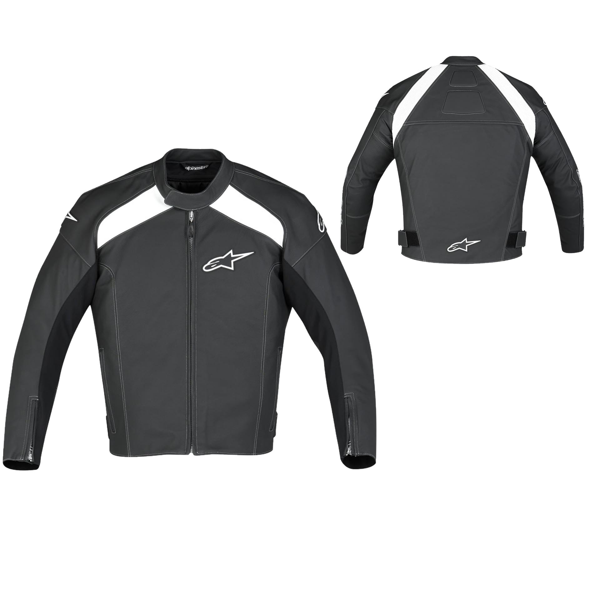 Alpinestars TZ-1 Leather Jacket - Black