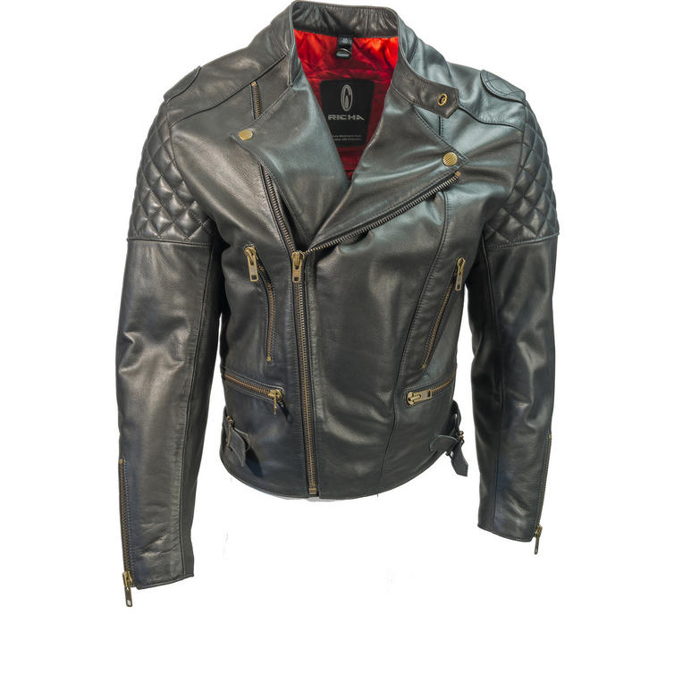 Richa Triple Leather Motorcycle Jacket