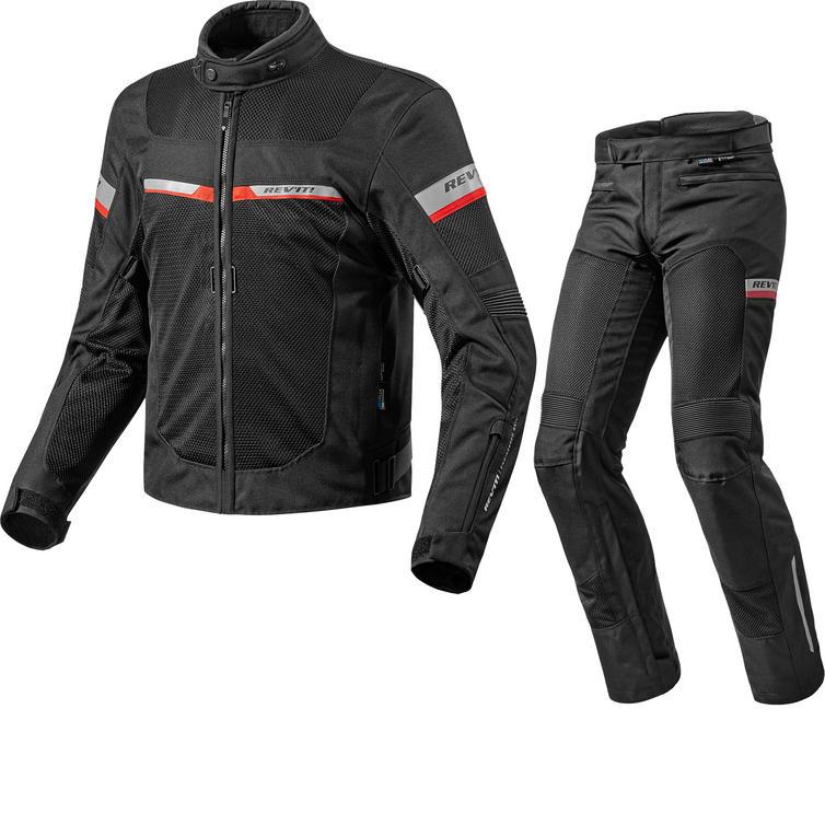 Rev It Tornado 2 Motorcycle Jacket & Trousers Black Kit