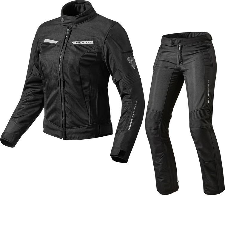Rev It Airwave 2 Ladies Motorcycle Jacket & Trousers Black Kit