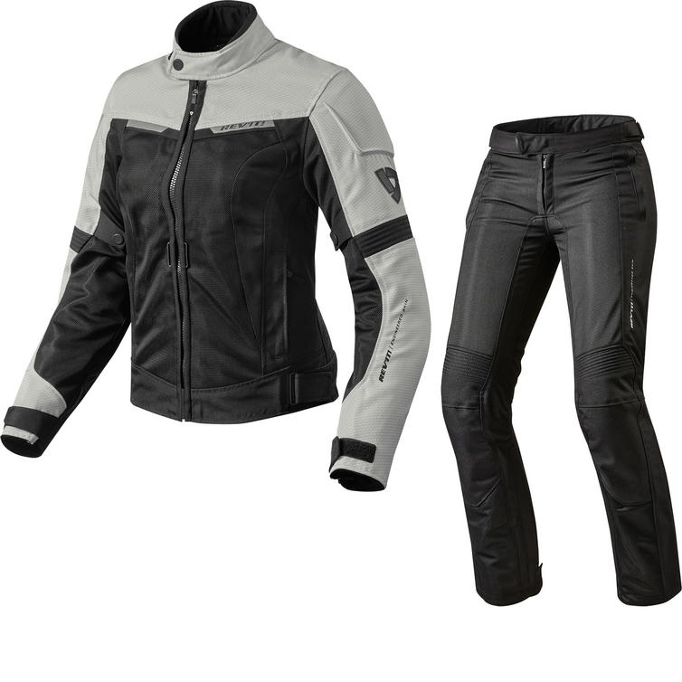 Rev It Airwave 2 Ladies Motorcycle Jacket & Trousers White Black Kit