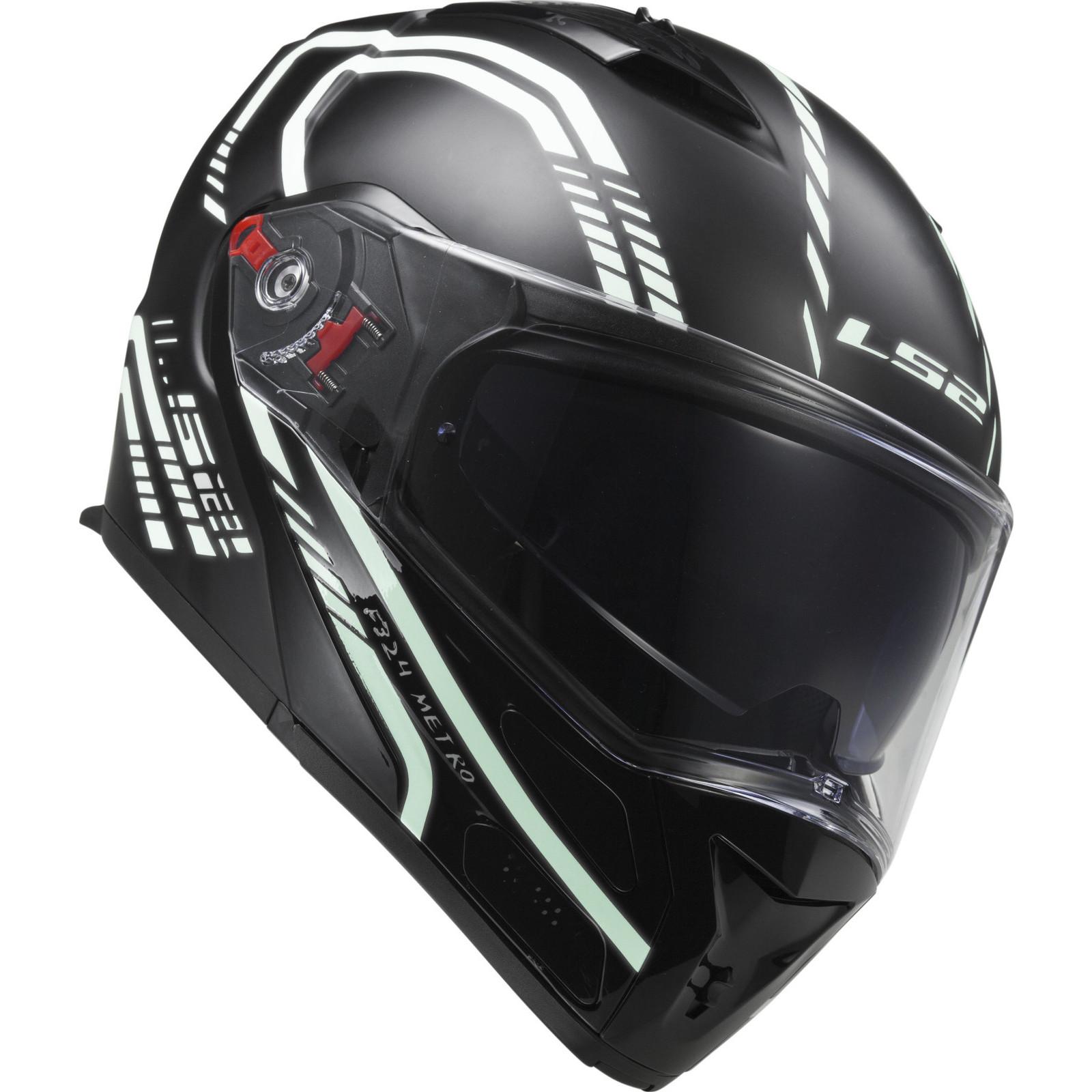 47f18a18 Full Face Motorcycle Helmet LS2 Metro Firefly Ff324 Black Size XXS ...