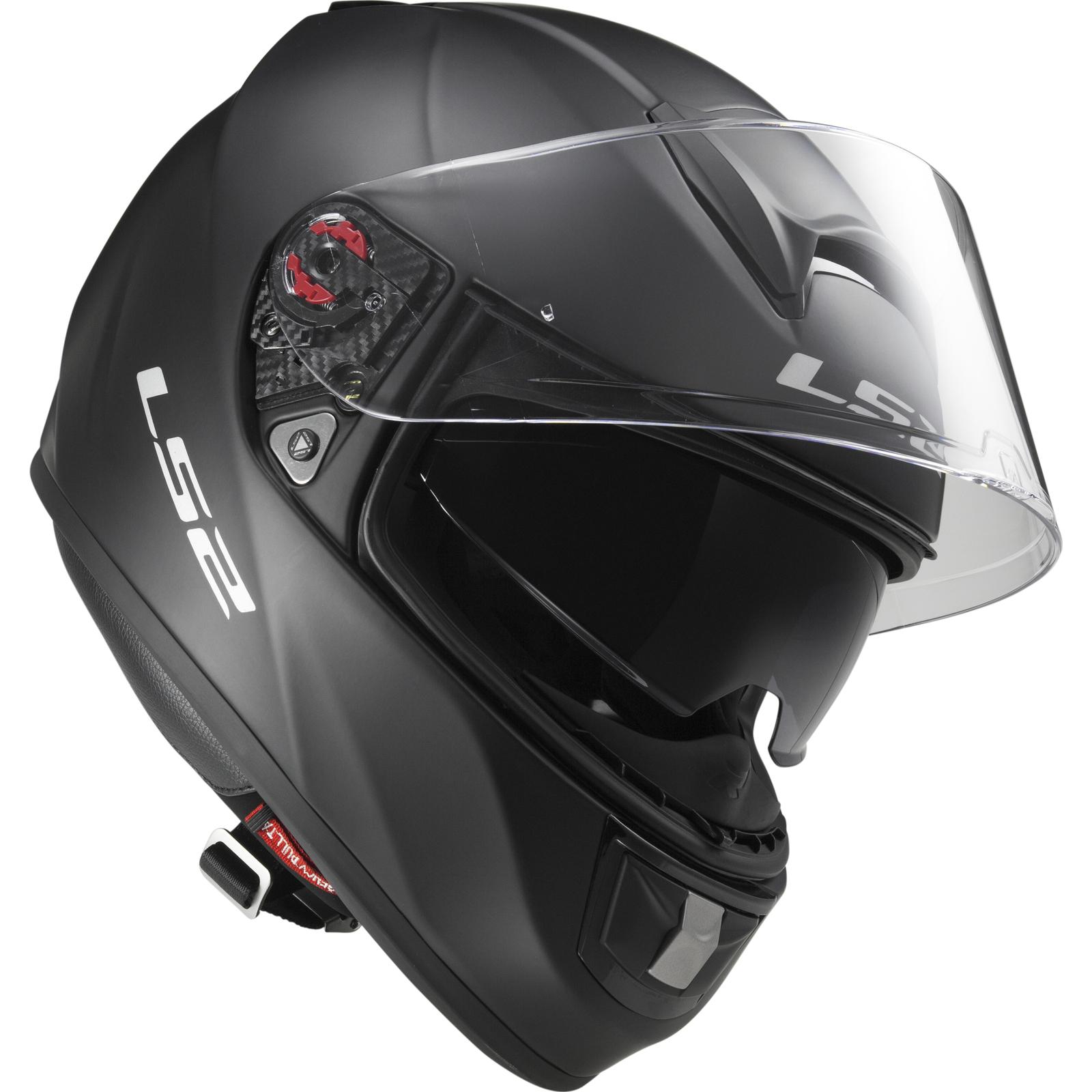 277a4c45 LS2 FF397.10 Vector Solid Matt Black Motorcycle Motorbike Full Face ...
