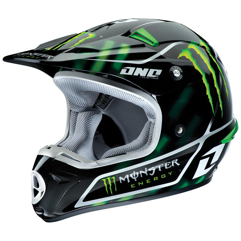 one industries kombat monster energy motocross helmet. Black Bedroom Furniture Sets. Home Design Ideas