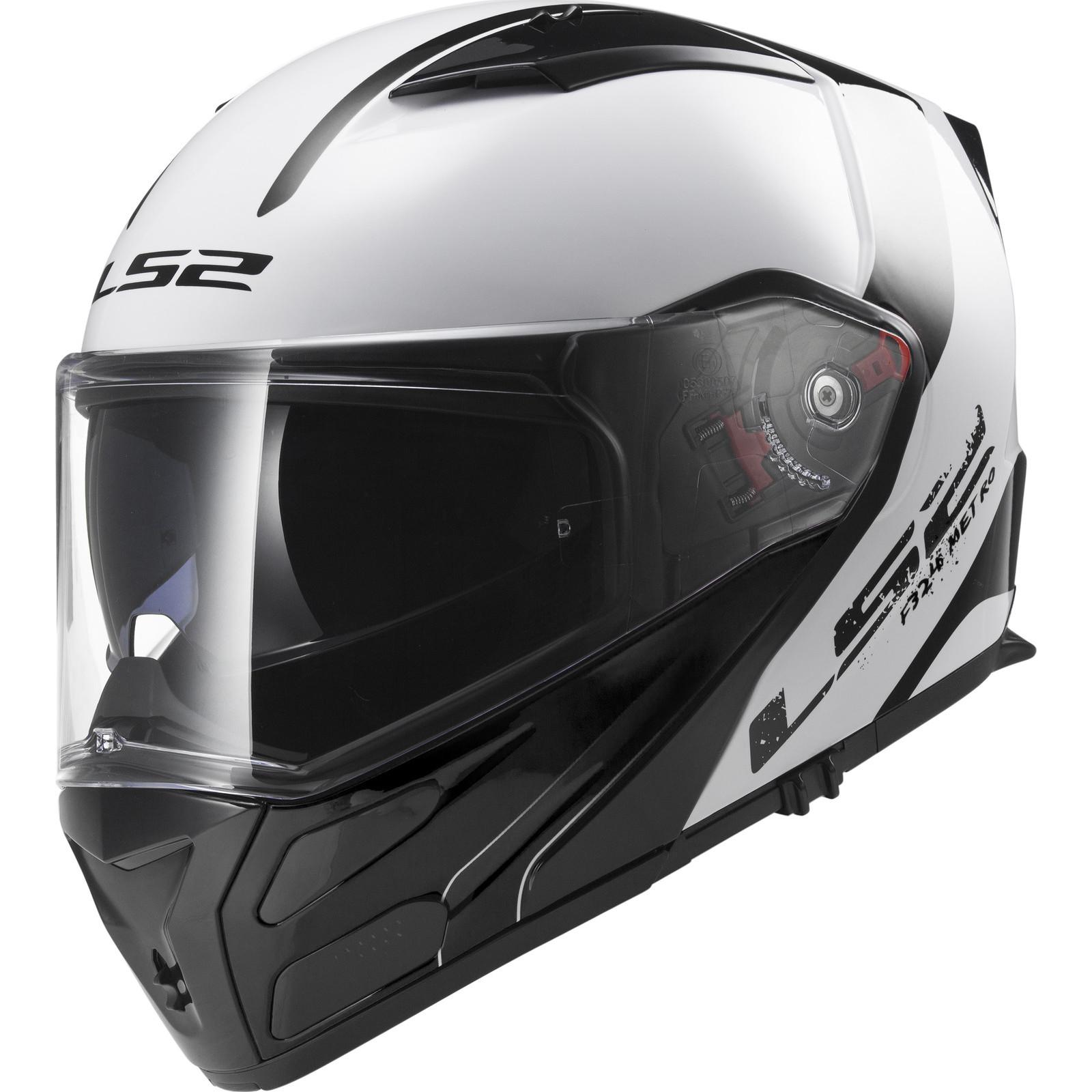 045494c7 LS2 FF324.21 Metro Rapid Flip Front Motorcycle Helmet & Visor Flip ...
