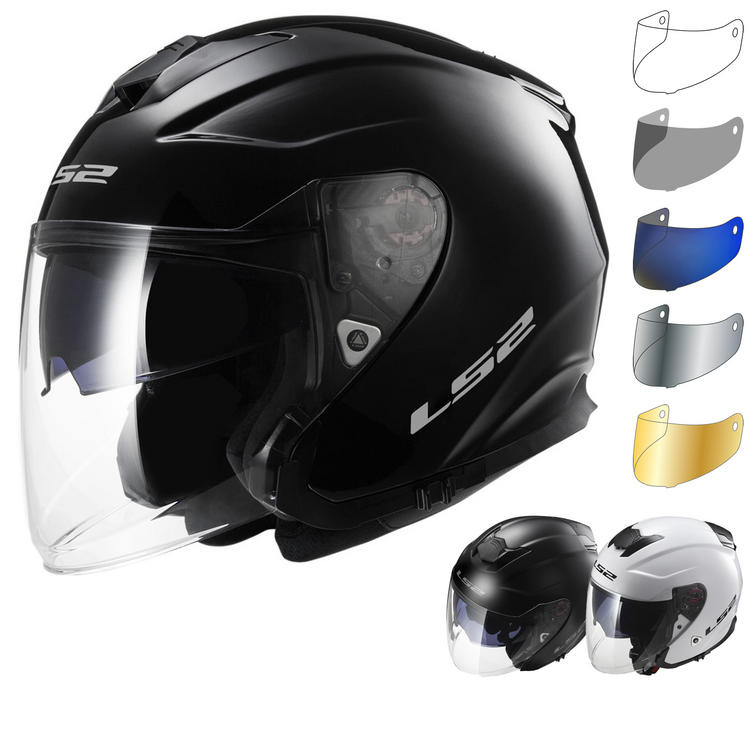 LS2 OF521.10 Infinity Solid Open Face Motorcycle Helmet & Visor