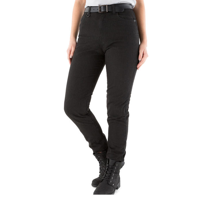 Knox Roseberry Ladies Black Motorcycle Jeans