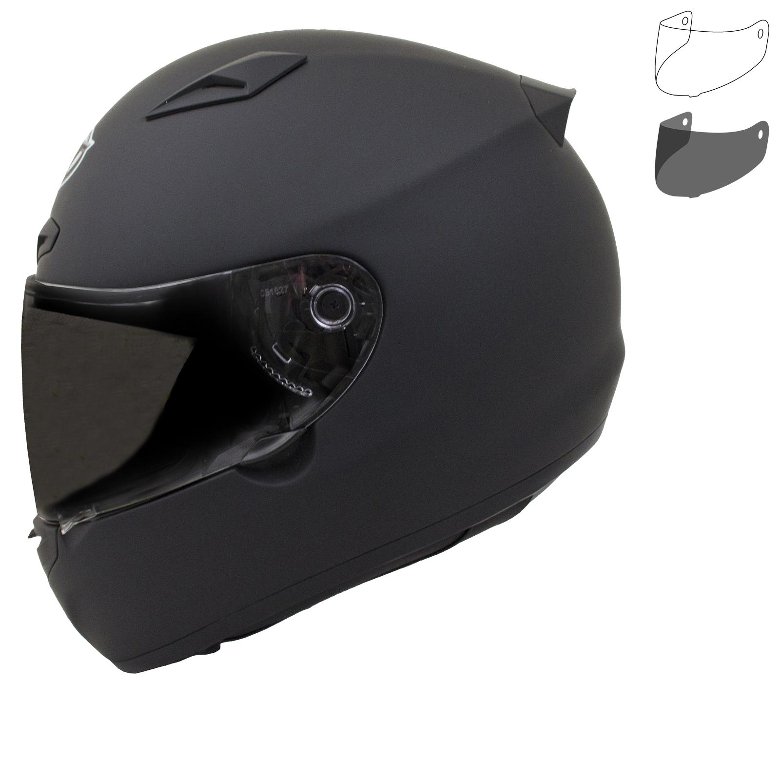 MT Matrix Solid Motorcycle Helmet L Matt Black
