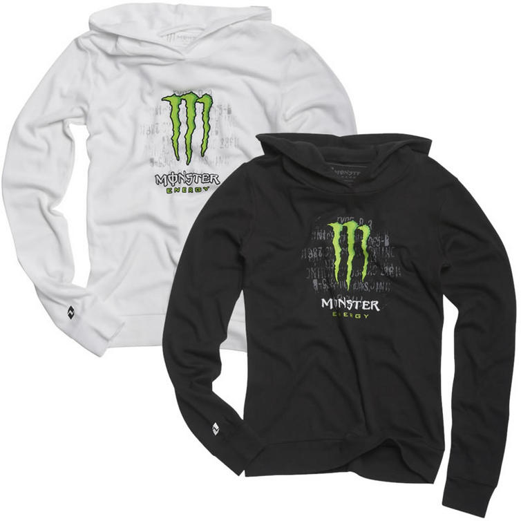one industries monster energy womens hype hoodie t. Black Bedroom Furniture Sets. Home Design Ideas