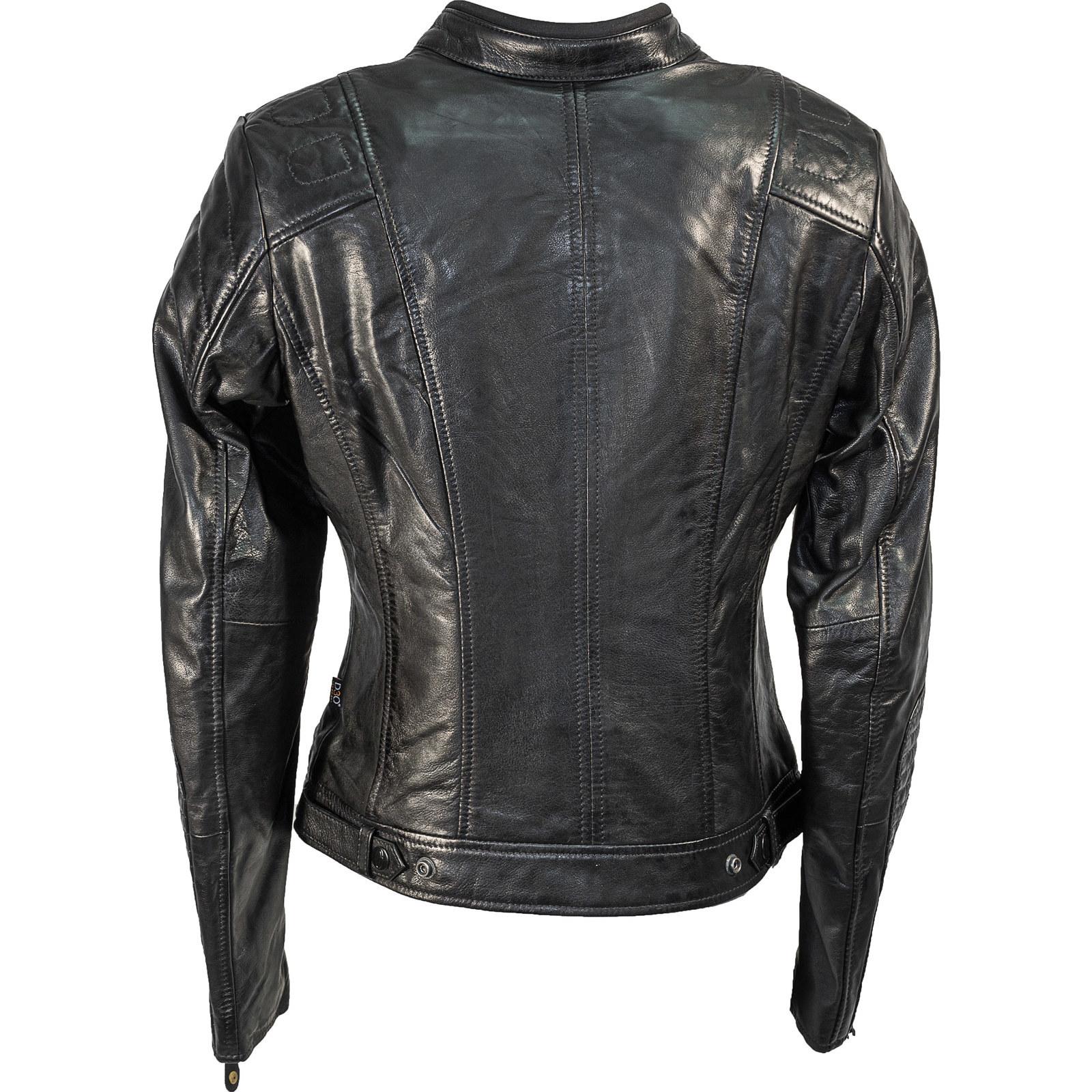Richa Lausanne Ladies Leather Motorcycle Jacket Womens Street ...