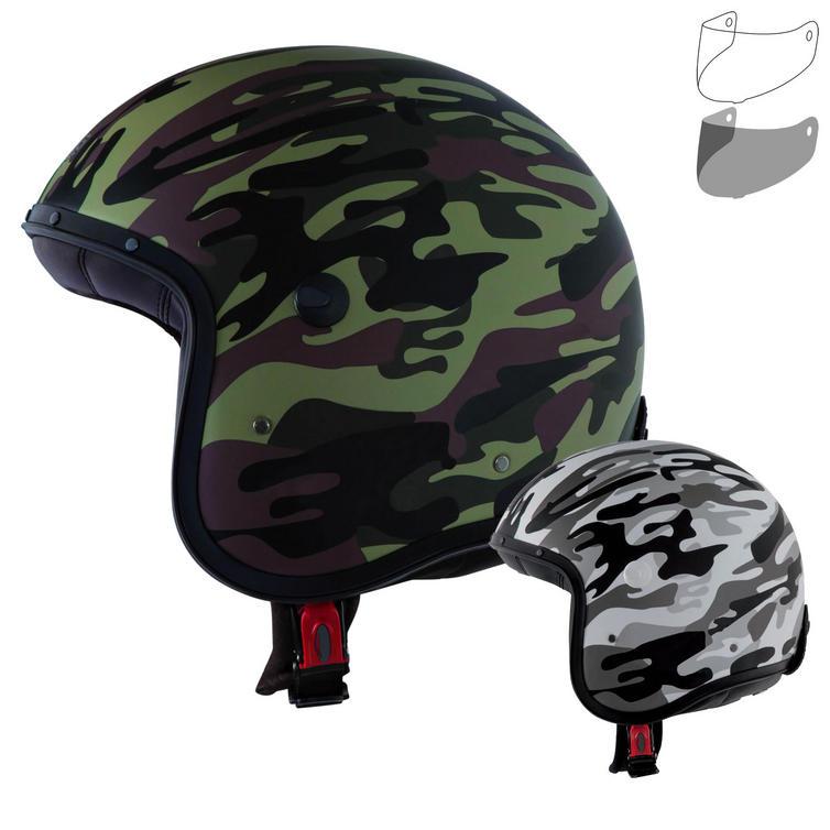 Caberg Freeride Commander Open Face Motorcycle Helmet & Visor