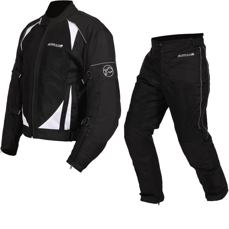 Buffalo Coolflow ST Motorcycle Jacket & Trousers Black Kit