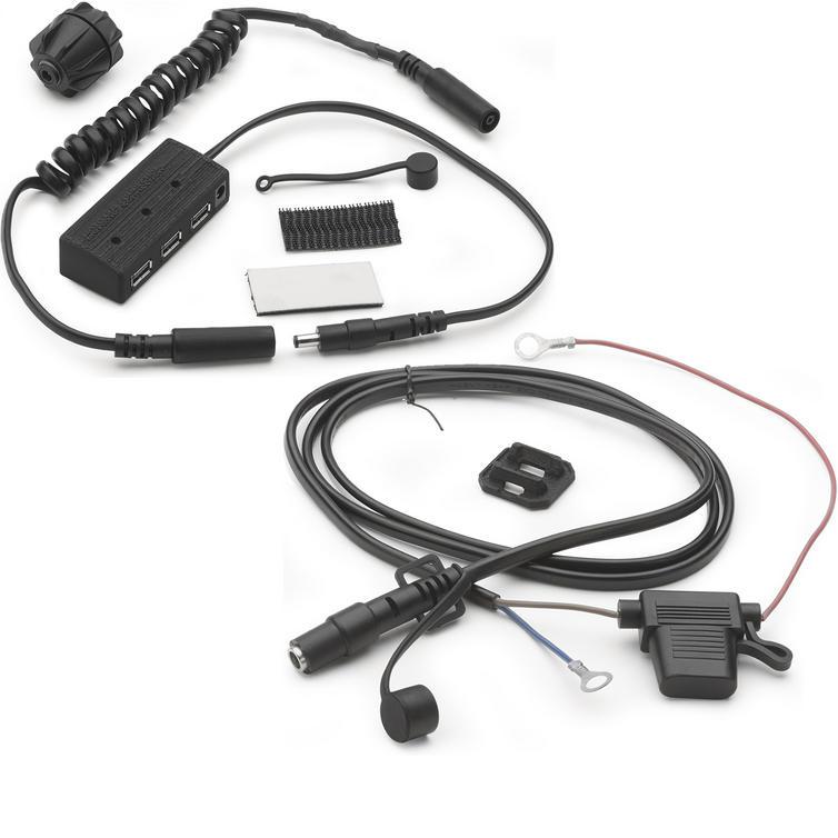 Givi 12v Electrical Handlebar Outlet (S110) + USB Power Hub Kit For Tank Bag (S111)