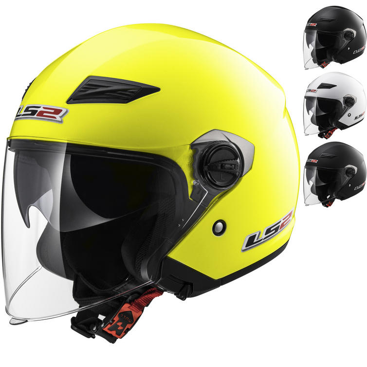 LS2 OF569 Track Solid Open Face Motorcycle Helmet