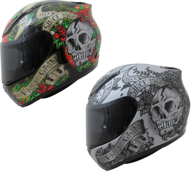 MT Revenge Skull & Roses Motorcycle Helmet