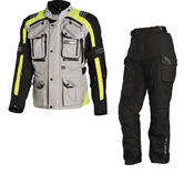 Richa Touareg Motorcycle Jacket & Trousers Fluo Yellow Black Kit