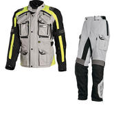 Richa Touareg Motorcycle Jacket & Trousers Fluo Yellow Grey Kit