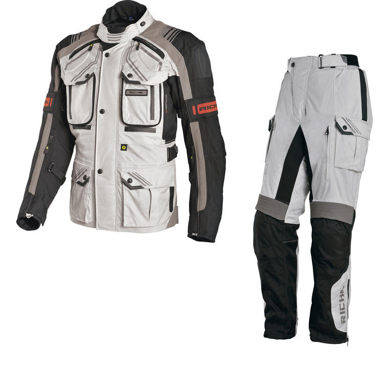 Richa Touareg Motorcycle Jacket & Trousers Grey Kit