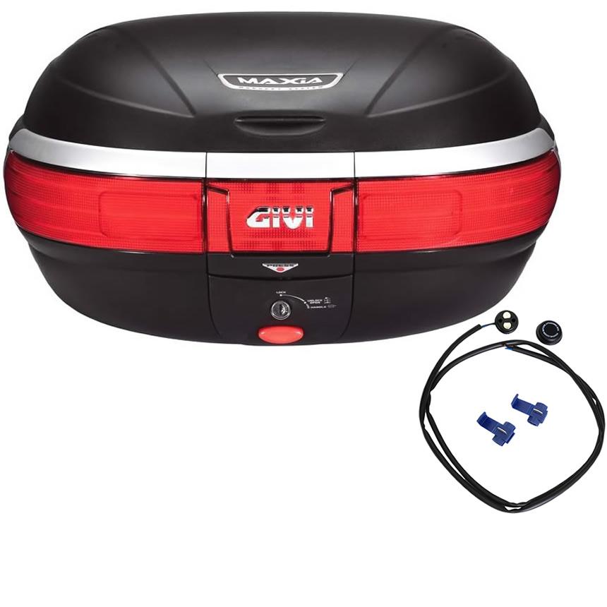 givi e52 maxia monokey topcase 52l with integrated brake light kit e52nf top cases. Black Bedroom Furniture Sets. Home Design Ideas