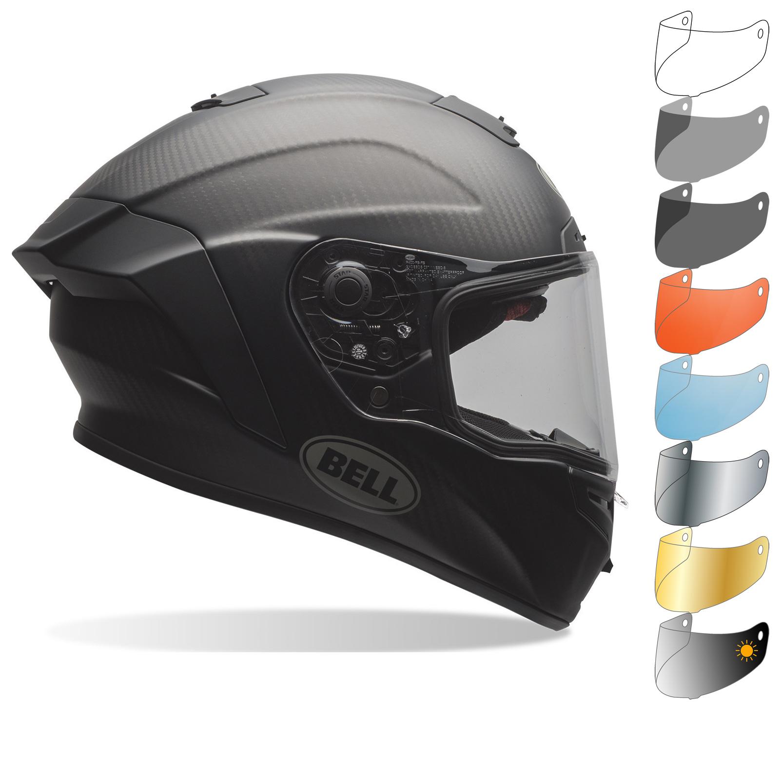 f4eb667d Bell Race Star Solid Motorcycle Helmet & Visor Integral Biker Lid ...