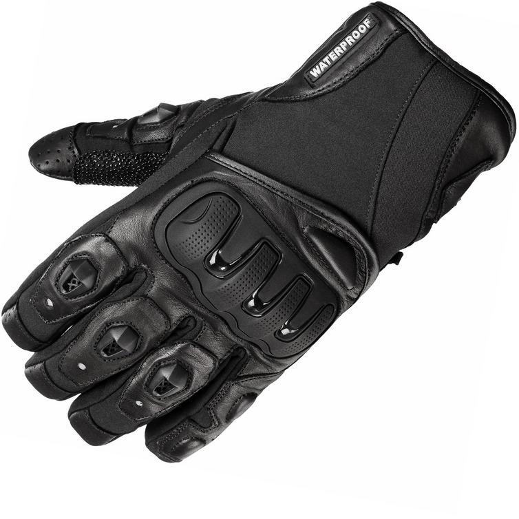 Black Spike WP Waterproof Motorcycle Gloves