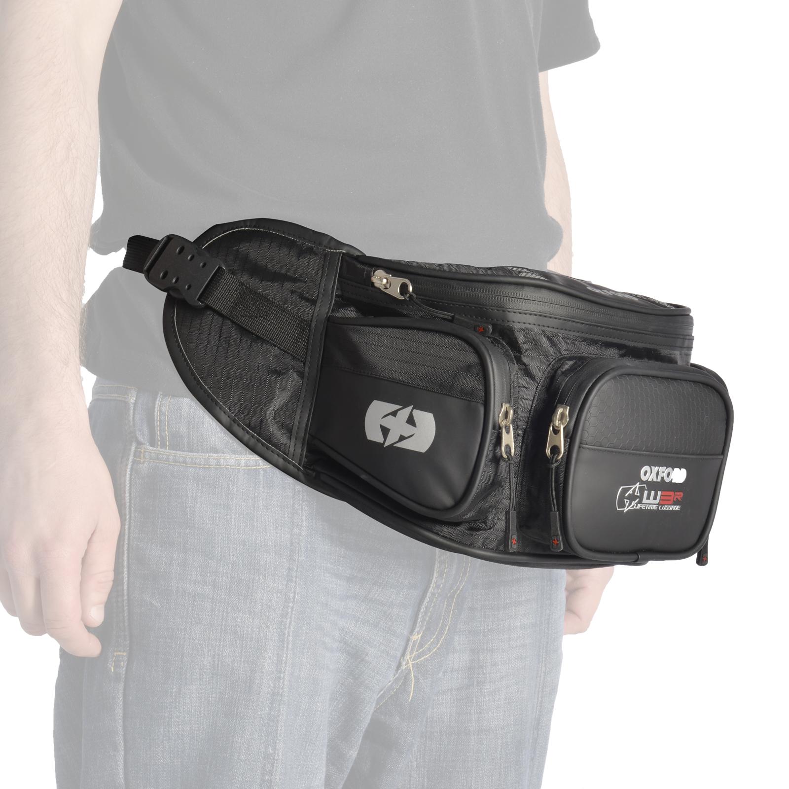 Motorcycle Oxford XW3R Waist Bag 3L Bike Riding Visor Accessories Pouch Black