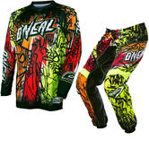 Oneal Element 2017 Vandal Motocross Jersey & Pants Black Neon Kit