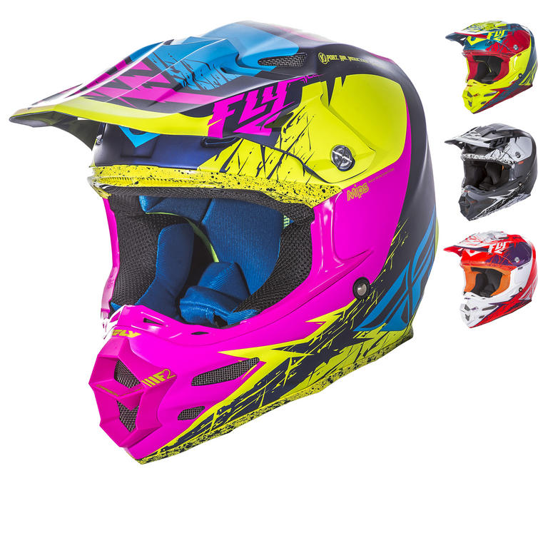 Fly Racing 2017 F2 Carbon MIPs Retrospec Motocross Helmet Thumbnail 2