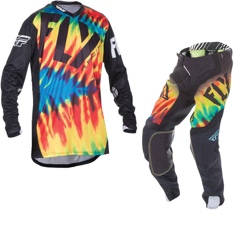 Fly Racing 2017 Lite Hydrogen Monster Cup Limited Edition Motocross Jersey & Pants Tie-Dye Black Kit