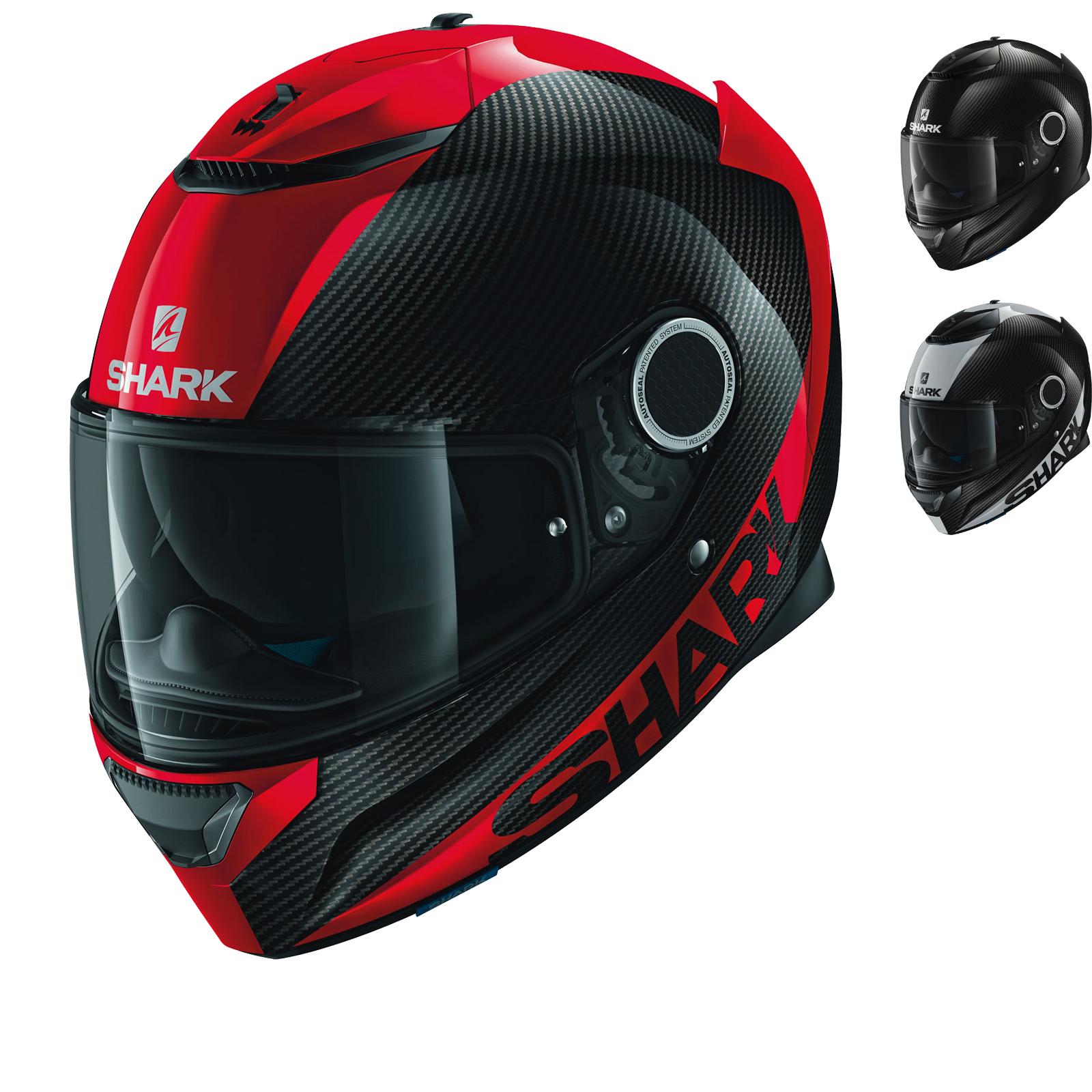 shark spartan carbon skin motorcycle helmet full face. Black Bedroom Furniture Sets. Home Design Ideas