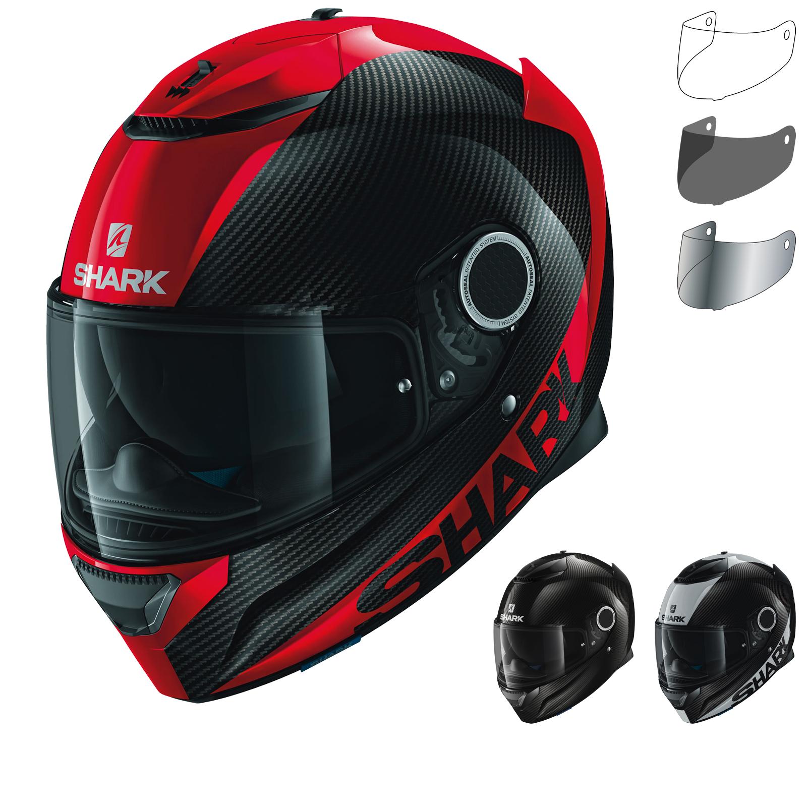 shark spartan carbon skin motorcycle helmet visor full. Black Bedroom Furniture Sets. Home Design Ideas