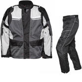 Agrius Columba Motorcycle Jacket & Hydra Trousers Black Grey Stone Black Kit - Long Leg