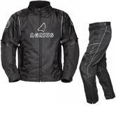Agrius Orion Motorcycle Jacket & Hydra Trousers Black Kit - Long Leg