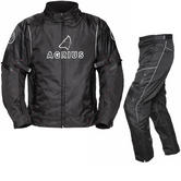 Agrius Orion Motorcycle Jacket & Hydra Trousers Black Kit - Long Leg