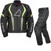 Agrius Phoenix Motorcycle Jacket & Hydra Trousers Black Hi-Vis Black Kit - Standard Leg Thumbnail 1