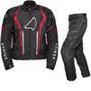 Agrius Phoenix Motorcycle Jacket & Hydra Trousers Black Red Black Kit - Short Leg Thumbnail 1