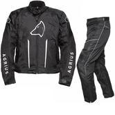 Agrius Phoenix Motorcycle Jacket & Hydra Trousers Black Kit - Long Leg