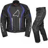 Agrius Phoenix Motorcycle Jacket & Hydra Trousers Black Blue Black Kit - Long Leg