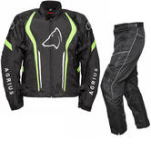 Agrius Phoenix Motorcycle Jacket & Hydra Trousers Black Hi-Vis Black Kit - Long Leg