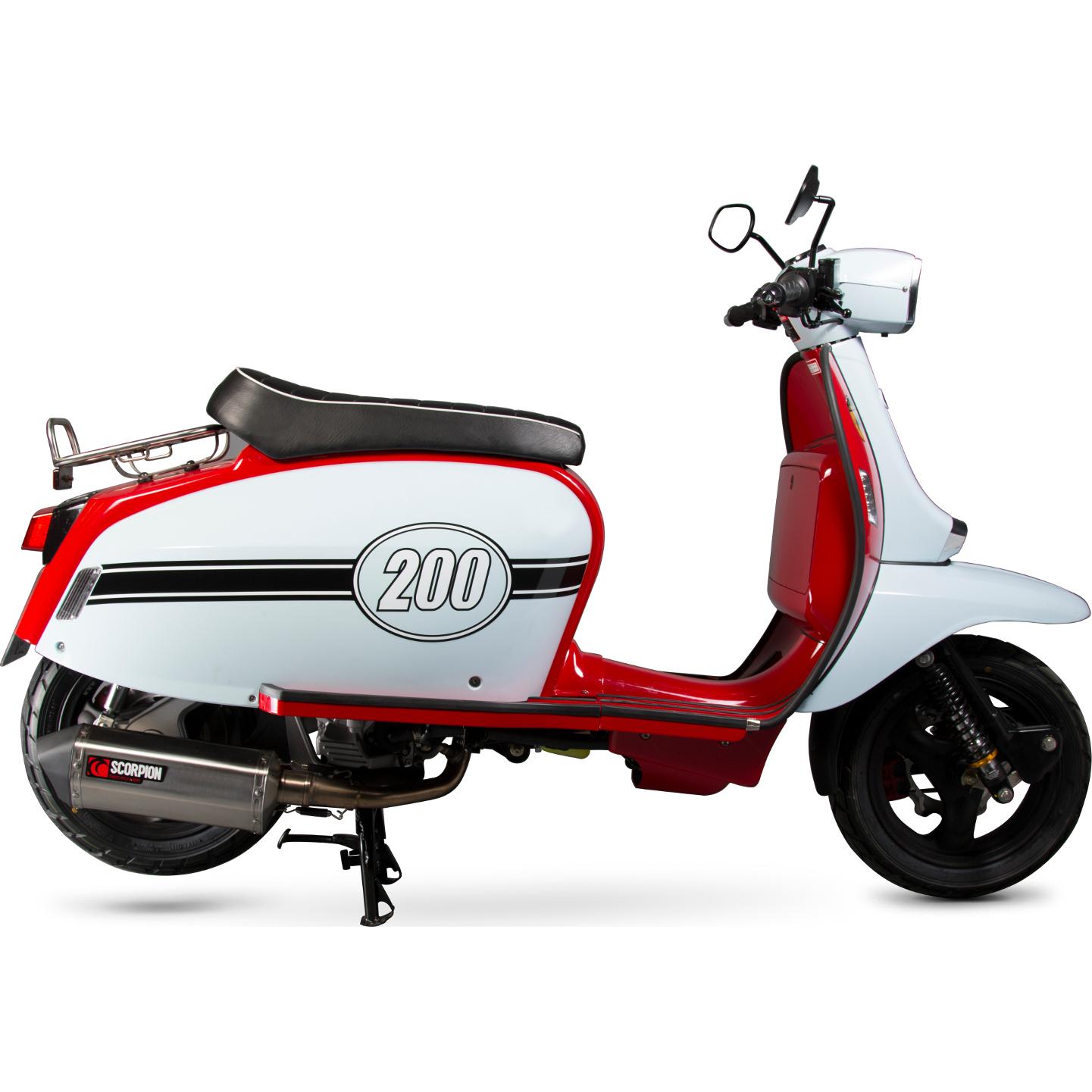 Scomadi Tl 200 2016 17 Scorpion Serket Parallel Stainless Moped