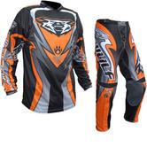 Wulf Attack Cub Motocross Jersey & Pants Orange Kit