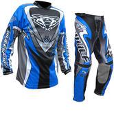 Wulf Attack Cub Motocross Jersey & Pants Blue Kit