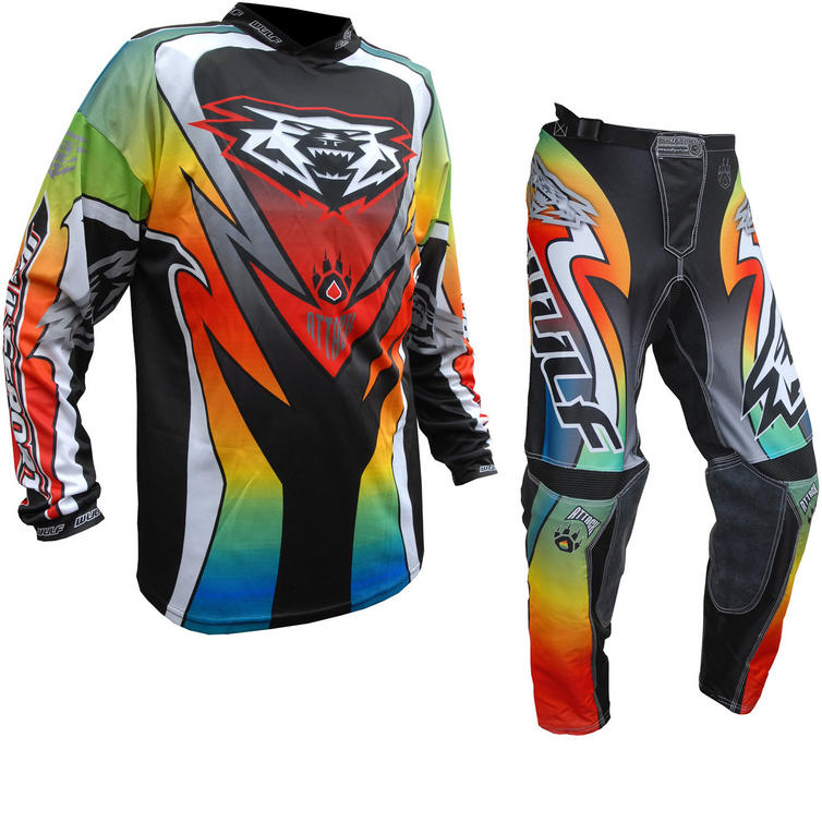 Wulf Attack Cub Motocross Jersey & Pants Multi Kit