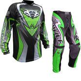 Wulf Attack Adult Motocross Jersey & Pants Green Kit