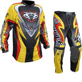 Wulf Attack Adult Motocross Jersey & Pants Yellow Kit