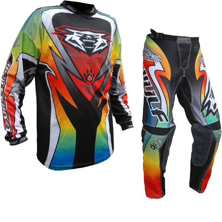 Wulf Attack Adult Motocross Jersey & Pants Multi Kit