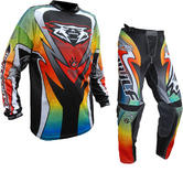 Wulf Attack Adult Motocross Jersey & Pants Multi Kit