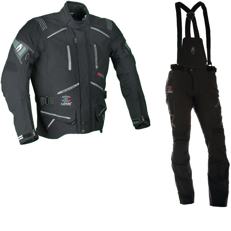 Richa Touring C-Change Motorcycle Jacket & Trousers Black Kit