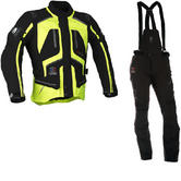Richa Touring C-Change Motorcycle Jacket & Trousers Fluo Yellow Black Kit