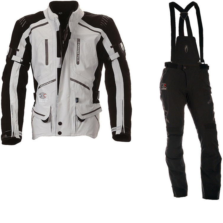 Richa Touring C-Change Motorcycle Jacket & Trousers Grey Black Kit